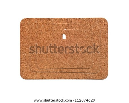 A cork board heat mats isolated against a white background