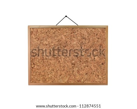 A cork board isolated against a white background