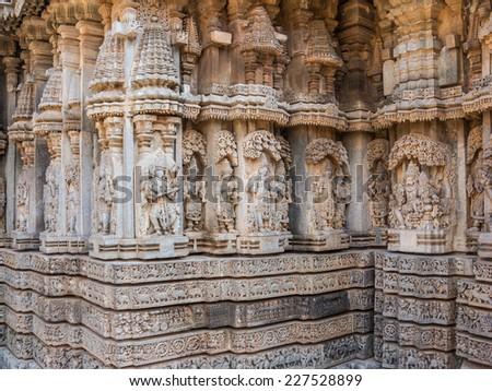 Elephant sculptures on base varaha temple stock photo for Figure del kamasutra