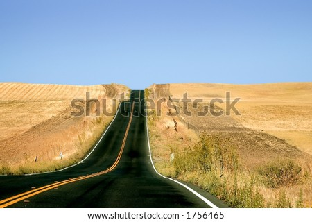 A country road. - stock photo
