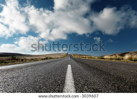 A Country Road in South Australia - stock photo