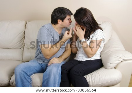 A couple arguing - stock photo