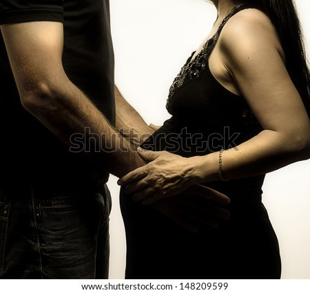 A Couple Expecting a Baby - stock photo