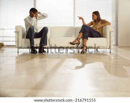 A couple fighting. - stock photo
