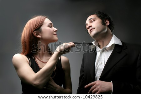 a couple in effusion - stock photo