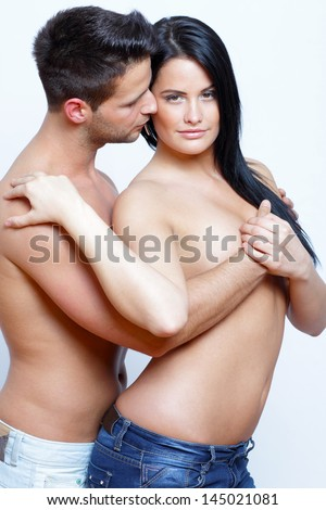 A couple in intimate position