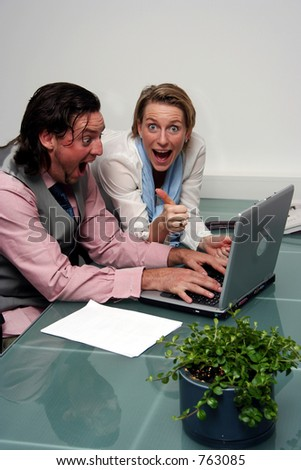 A couple with a success story - stock photo