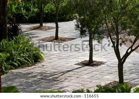 A courtyard. - stock photo