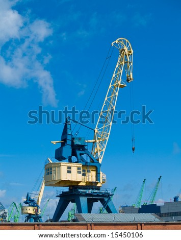 A crane in the harbour of Klaipeda, Lithuania