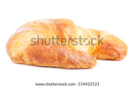 a croissant isolated on white background