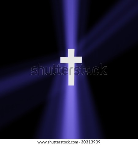 a cross is light - stock photo