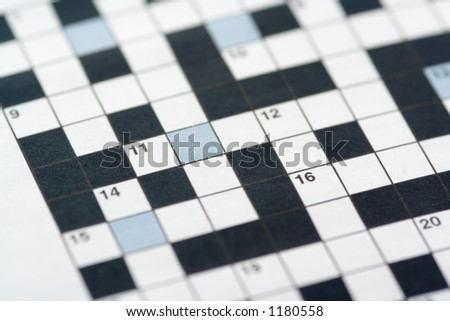 A crossword puzzle - stock photo