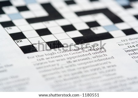 A crossword puzzle (shallow dof)