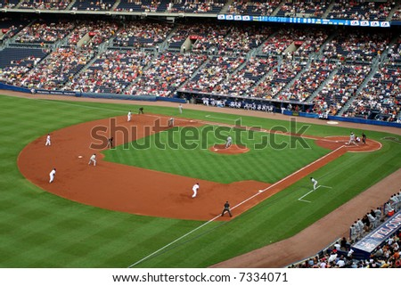 A crowd at a game - stock photo