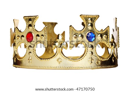 A crown isolated on white background - stock photo