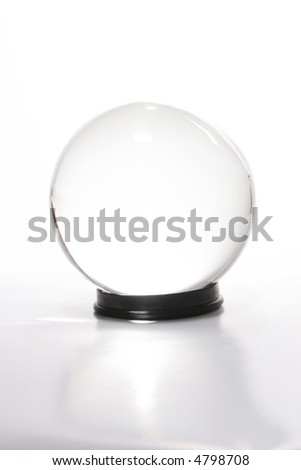 A crystal ball against white