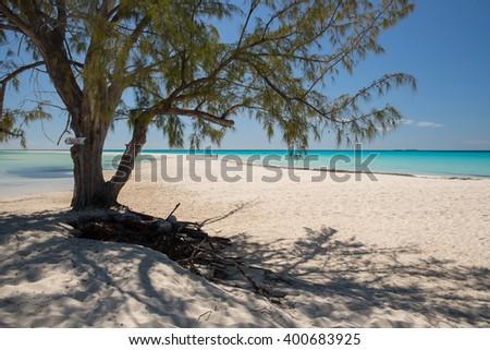 A Cuban beach paradise. - stock photo