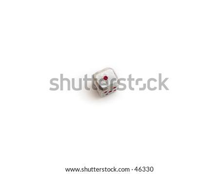 a cube, dice - stock photo
