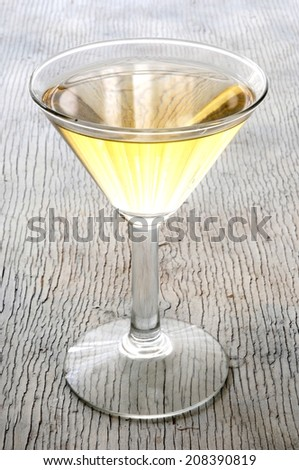 a cup cocktail white wine - stock photo