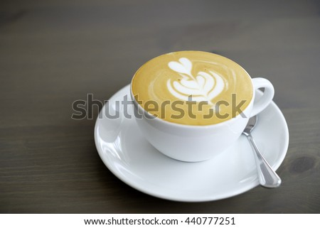 A cup of coffee latte - stock photo