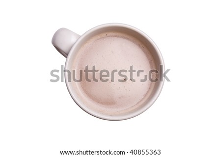 A cup of hot chocolate to warm you up.