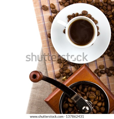 a cup of hot coffee - stock photo