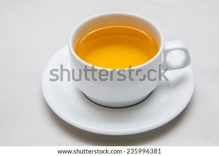 a cup of hot tea - stock photo