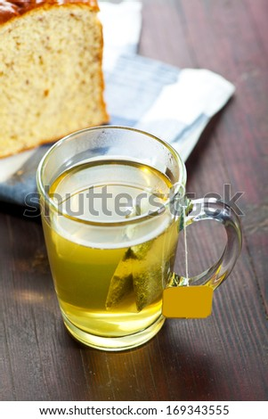 A cup of tea and bread