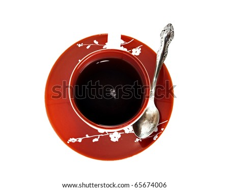 A cup of tea on white background - stock photo
