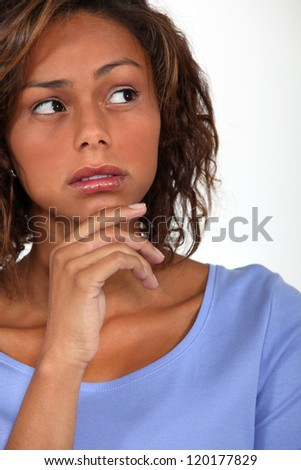 A cute black woman. - stock photo