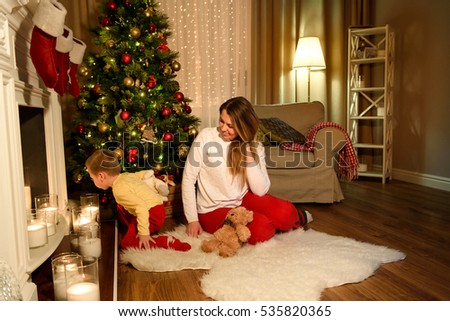 Nice Mom Listening Carefully What Her Stock Photo ...