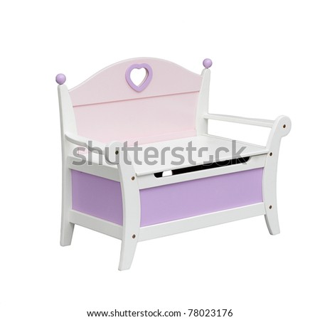 A cute chair with drawer for a little girl - stock photo