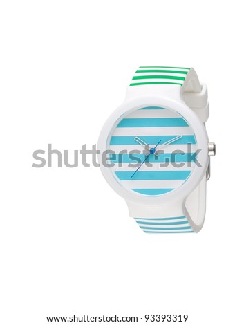 A cute colorful lady wristwatch - stock photo