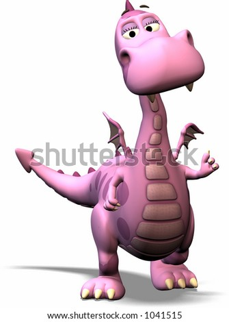 a cute dragon - stock photo