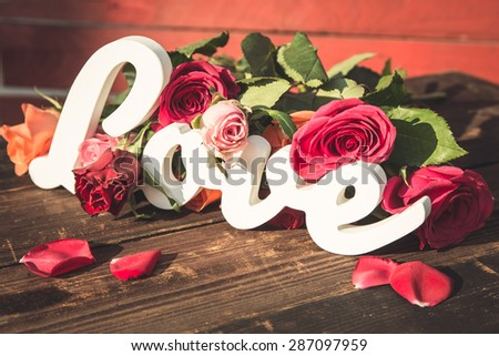 A cute gift idea for Valentine's Day - stock photo