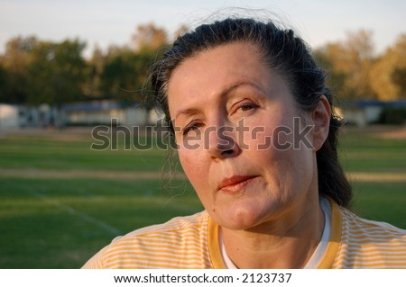 A cynical look. - stock photo