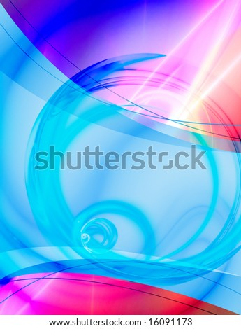 A 3D abstract layout you can use as a template for any design piece. - stock photo