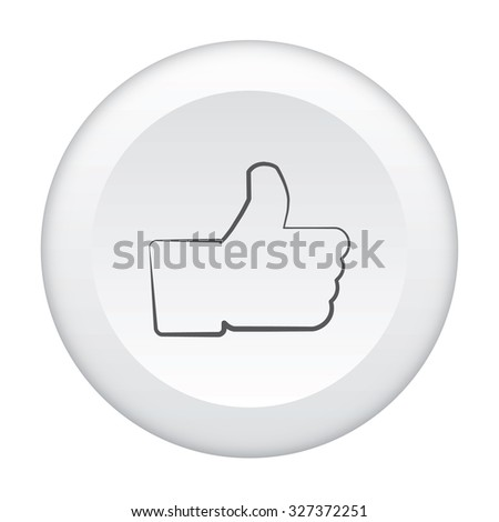 A 3D Button Icon Isolated on a White Background - Like