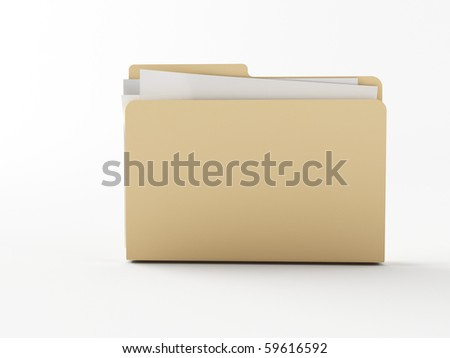 a 3d folder on a white ground - stock photo