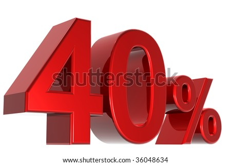 A 3d forty percent concept - stock photo