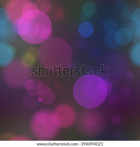 A 3d illustrated rendering of a colorful light bokeh background mainly in purple. - stock photo