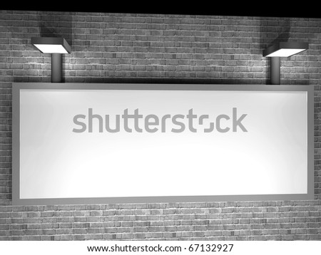 a 3d illustration of a advertising panel at night