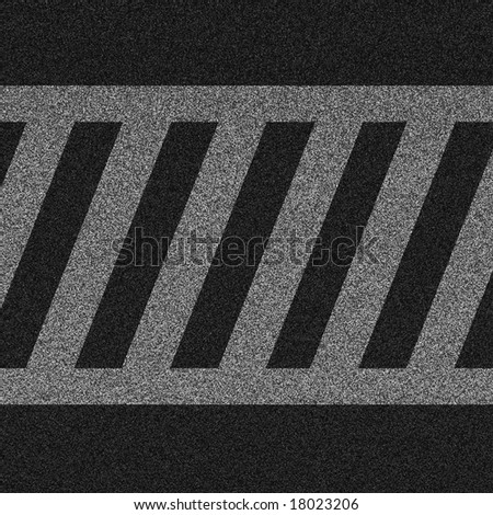 a 2d illustration of a crosswalk lines on pavement. - stock photo