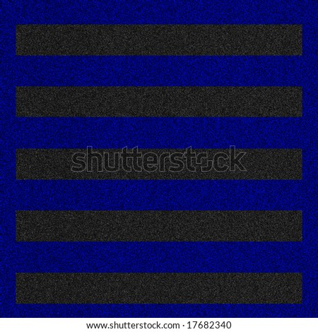 a 2d illustration of a hazard lines on pavement. - stock photo