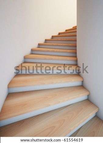 A 3d illustration of a spiral stair to the future. - stock photo