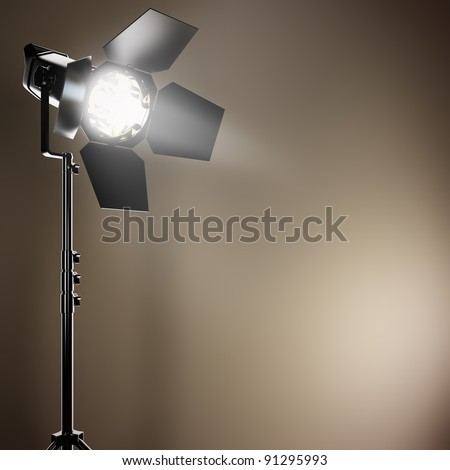 A 3D illustration of a studio flash. - stock photo