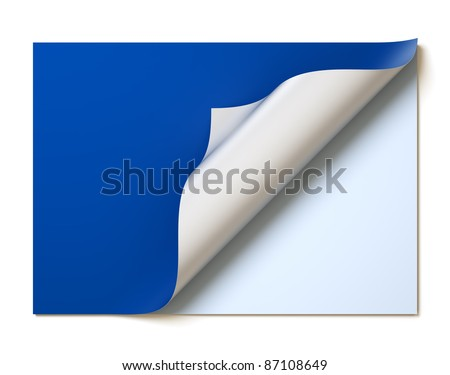 A 3d illustration of blank page for design layout. - stock photo