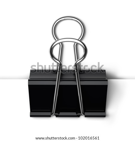 A 3d illustration of template paper clip. - stock photo