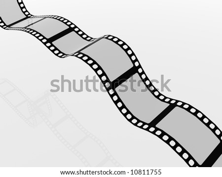 A 3D image of some film cells - stock photo