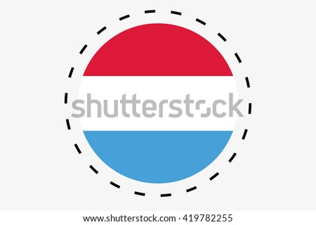 A 3D Isometric Flag Illustration of the country of Luxembourg - stock photo